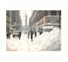 Blizzard on Bay Art Print