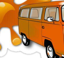 Volkswagen Kombi Tee shirt - Bay Blobs Orange Sticker