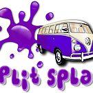 Volkswagen Kombi Tee shirt - Split Splat Purple by KombiNation