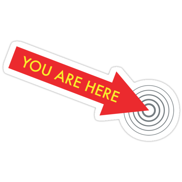 You are here. [Red] by icanfly