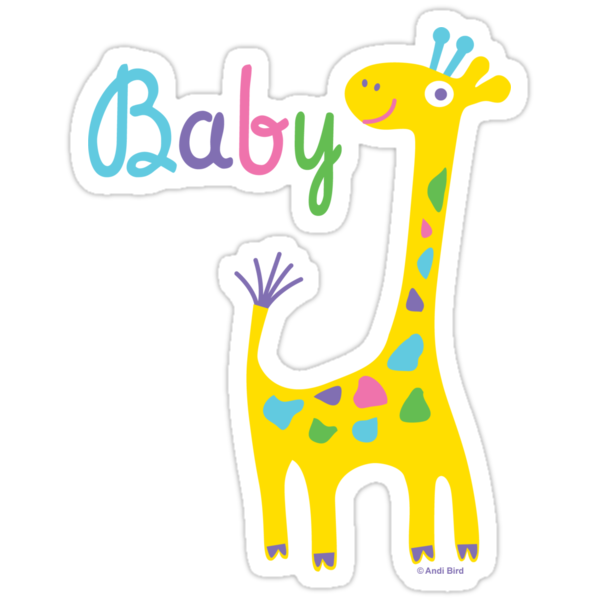giraffe baby kids t shirt & onesie by Andi Bird