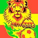 African Soccer Lion by Rustyoldtown
