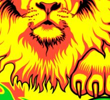 African Soccer Lion Sticker