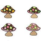 Mushroom Sticker Sheet by Pip Gerard