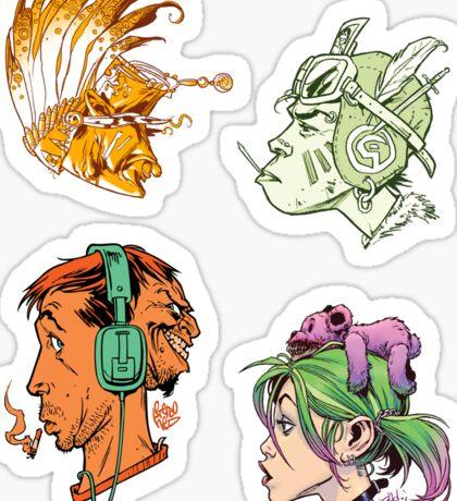 Heads Sticker Collection Sticker