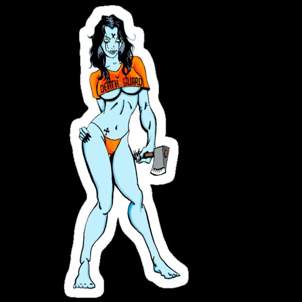 Death Guard Sticker by monsterfink