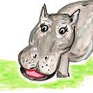hippopotamus by Soxy Fleming