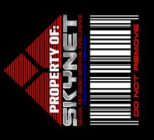 Property of Skynet Stickers (3 Total) by superiorgraphix