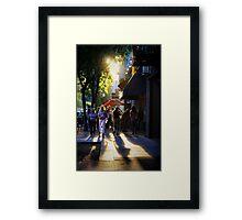 Downtown Saturday Night Framed Print
