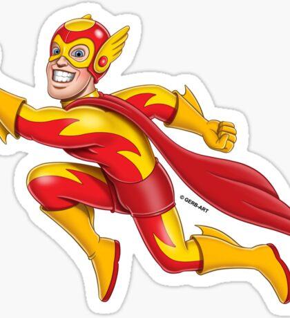Superheroes - Flames Sticker