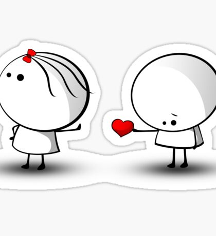 Take my heart Sticker