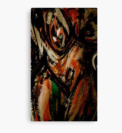 wild spirit woman..... face breast Canvas Print