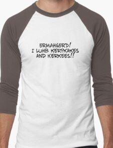 ERMAHGERD! I luhb kerpkakes and Kerkees!! Men's Baseball ¾ T-Shirt