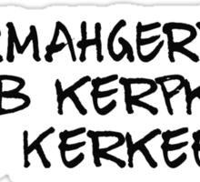 ERMAHGERD! I luhb kerpkakes and Kerkees!! Sticker