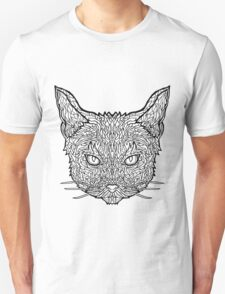 Abyssinian Cat - Complicated Coloring T-Shirt