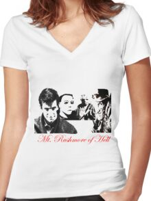 The Founding Fathers of Horror  Women's Fitted V-Neck T-Shirt