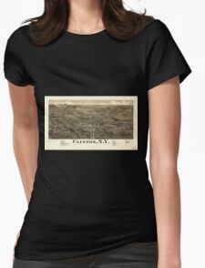 Panoramic Maps Clinton NY Womens Fitted T-Shirt