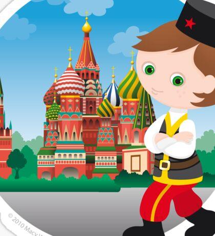 Russian boy Sticker