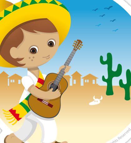 Mexican boy Sticker