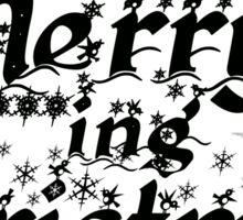 Merry F***king Christmas Sticker