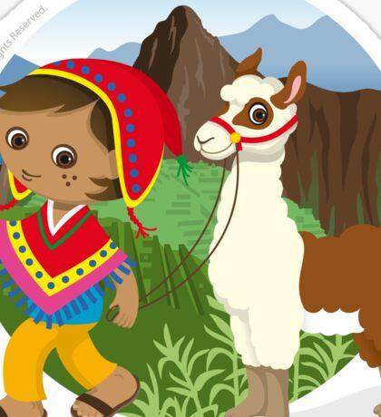 Peruvian boy Sticker