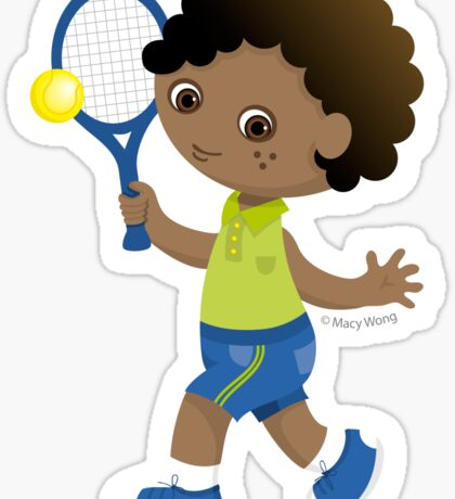 Tennis boy Sticker