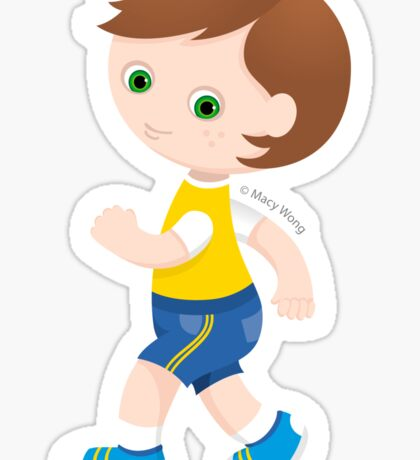 Jogging Sticker