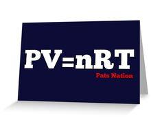 PV=nRT Greeting Card