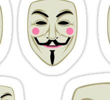 Guy Fawkes Mask Sticker Set Sticker