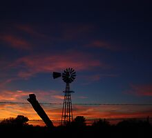 Kansas Bright and Colorful Evening Sunset by ROBERTDBROZEK