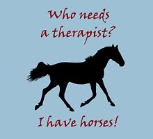 Therapy & Horse T-Shirt & Hoodies Womens T-Shirt