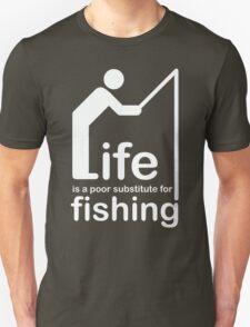 Fishing v Life - White Graphic T-Shirt