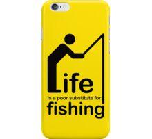 Fishing v Life - White Graphic iPhone Case/Skin