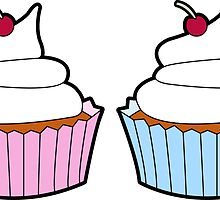 Cupcake Sticker by OohLaLiza