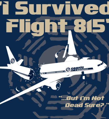 I survived Flight 815 Sticker Sticker