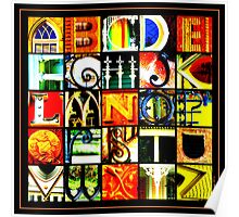 Savannah Alphabet - Bright, square Poster