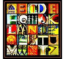 Savannah Alphabet - Bright, square Photographic Print