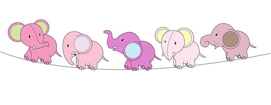 5 Pink Elephants by Lauren Eldridge-Murray