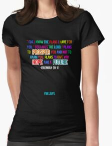 Jeremiah 29:11  Womens Fitted T-Shirt