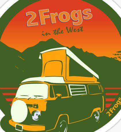 2 Frogs English GREEN Sticker