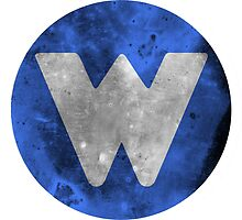 Wrongtown W Logo - Blue Distressed by houseAU