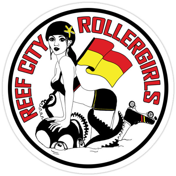 Reef City Roller Girls Sticker by Reef City Roller Girls