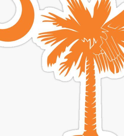 Orange Palmetto Moon Sticker