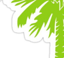 Lime Green Palmetto Moon Sticker