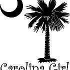 Black Carolina Girl Palmetto Moon by PalmettoTrading