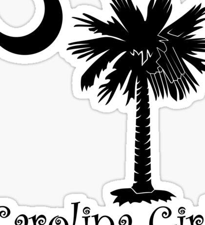 Black Carolina Girl Palmetto Moon Sticker