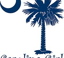 Blue Carolina Girl Palmetto Moon by PalmettoTrading