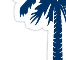 Blue Carolina Girl Palmetto Moon Sticker