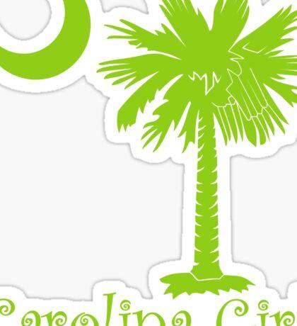 Lime Green Carolina Girl Palmetto Moon Sticker