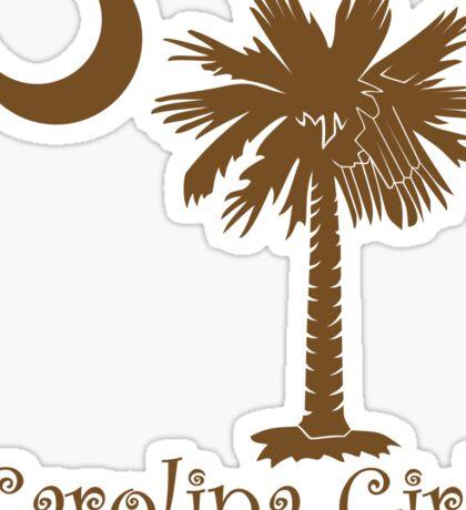 Brown Carolina Girl Palmetto Moon Sticker
